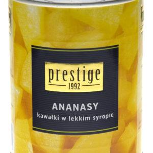 Ananasy kawałki w lekkim syropie