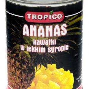 Ananas kawałki w lekkim syropie