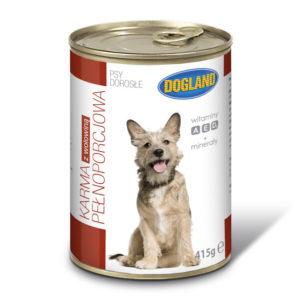Karma dla psów z wołowiną